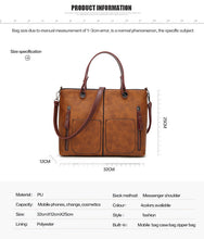 Tinkin Vintage Shoulder Bag Female Causal Totes for Daily Shopping - Handcrafted Wood, Iron & Copper