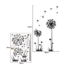 Beautiful Dandelion Wall Stickers Living Room Bedroom Dream Of Flying Wall Sticker Home Decor Sticker Wall Decals - Handcrafted Wood, Iron & Copper