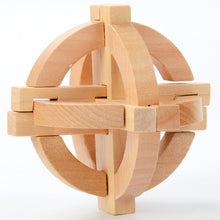 China Classic 3D Wooden Puzzle Lock Toys Cube Game Funny Lock Design IQ Brain Teaser Educational Toys For Children Adults - Handcrafted Wood, Iron & Copper