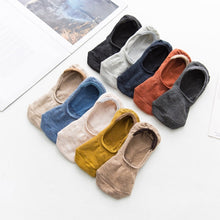5 pairs Spring Summer women Socks Solid Color Fashion Socks Slipper Socks Slippers - Handcrafted Wood, Iron & Copper