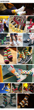 1 Pair Colorful Cotton Socks Long Tube Socks Novelty Skateboard Crew Casual Crazy Socks - Handcrafted Wood, Iron & Copper