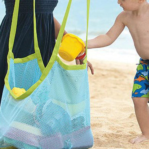 Kids Baby Sand Away Carry Beach Toys Pouch Tote Mesh Large Children Storage Toy Collection Sand Away Beach Mesh Tool - Handcrafted Wood, Iron & Copper