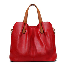 Genuine Leather Women Handbag High Quality Fashion Ladies Shoulder Bag Solid Color Top-handle Bag - Handcrafted Wood, Iron & Copper