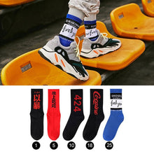 5 Pairs Cotton Socks Men Stripe Cool Hip Hop Socks Skateboard Autumn Winter Long Funny Socks - Handcrafted Wood, Iron & Copper
