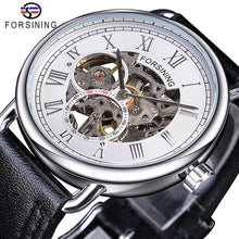 Classic Black Golden Luxury Wristwatch Skeleton Watches Mens Watch Mechanical Wristwatches Black Genuine Leather - Handcrafted Wood, Iron & Copper
