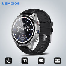 Classic Business Style Wristwatch 4G Smart Watch Android  With SIM Card Camera GPS Bluetooth Multiple Dials Stainless Steel - Handcrafted Wood, Iron & Copper