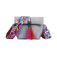 Crossbody Bag Stylish Women's Handbag Tassel Shoulder Bags with Colorful Strap Tote Bag - Handcrafted Wood, Iron & Copper