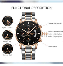Gold Quartz Watch Luxury Men Watches Fashion Man Wristwatches Stainless Steel - Handcrafted Wood, Iron & Copper