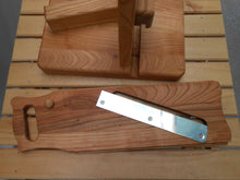 Guillotine Salami Slicer - Cherry Wood19th Century Design Handmade - Handcrafted Wood, Iron & Copper