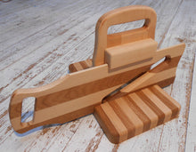 Wooden  Guillotine Salami Slicer 19th Century Design Handmade Oak and Beech Wood Cured Meat Chopper - Handcrafted Wood, Iron & Copper