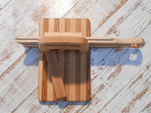 Wooden Salami Slicer 19th Century Design Handmade Oak and Beech Wood Cured Meat Chopper - Handcrafted Wood, Iron & Copper