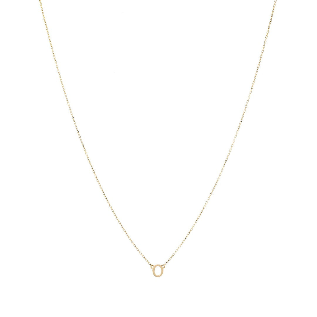 14K Gold Baby Initial Necklace
