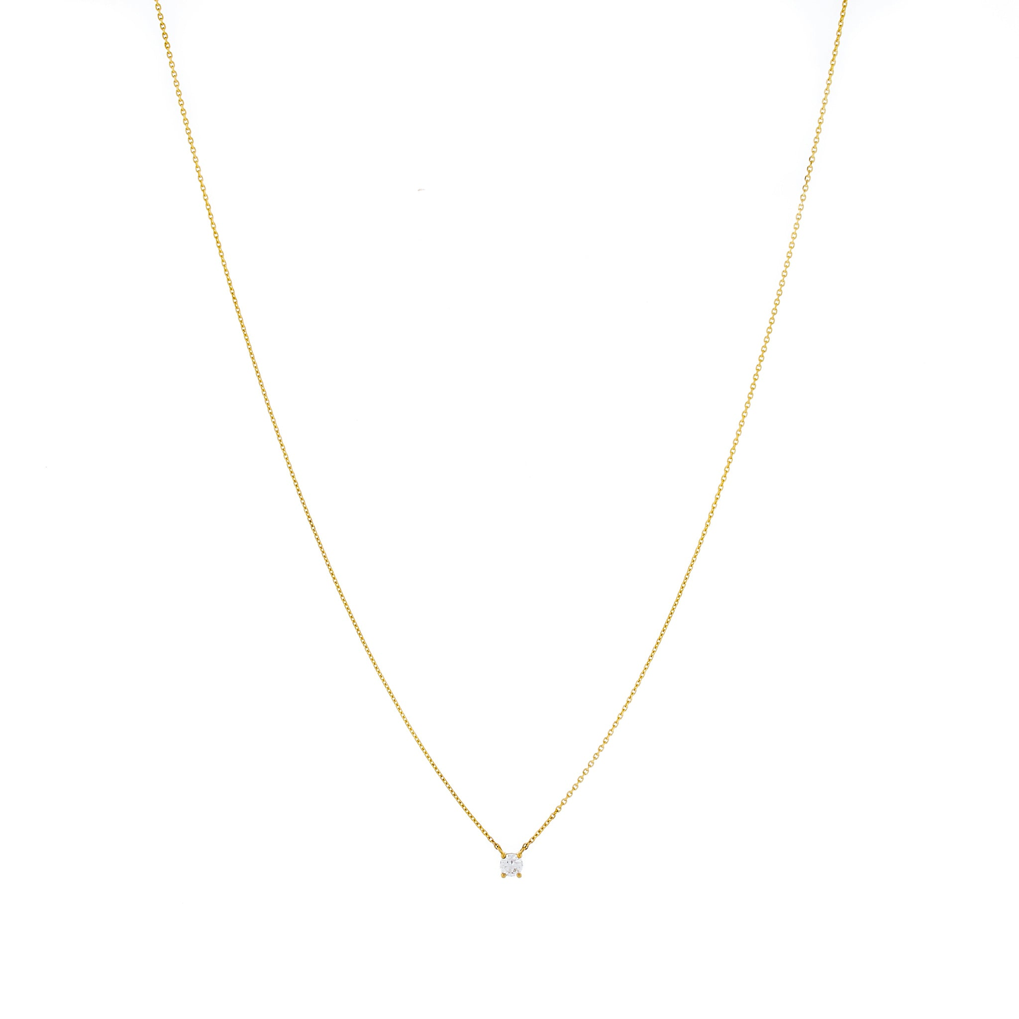 9K Gold Claw-Set Diamond Necklace