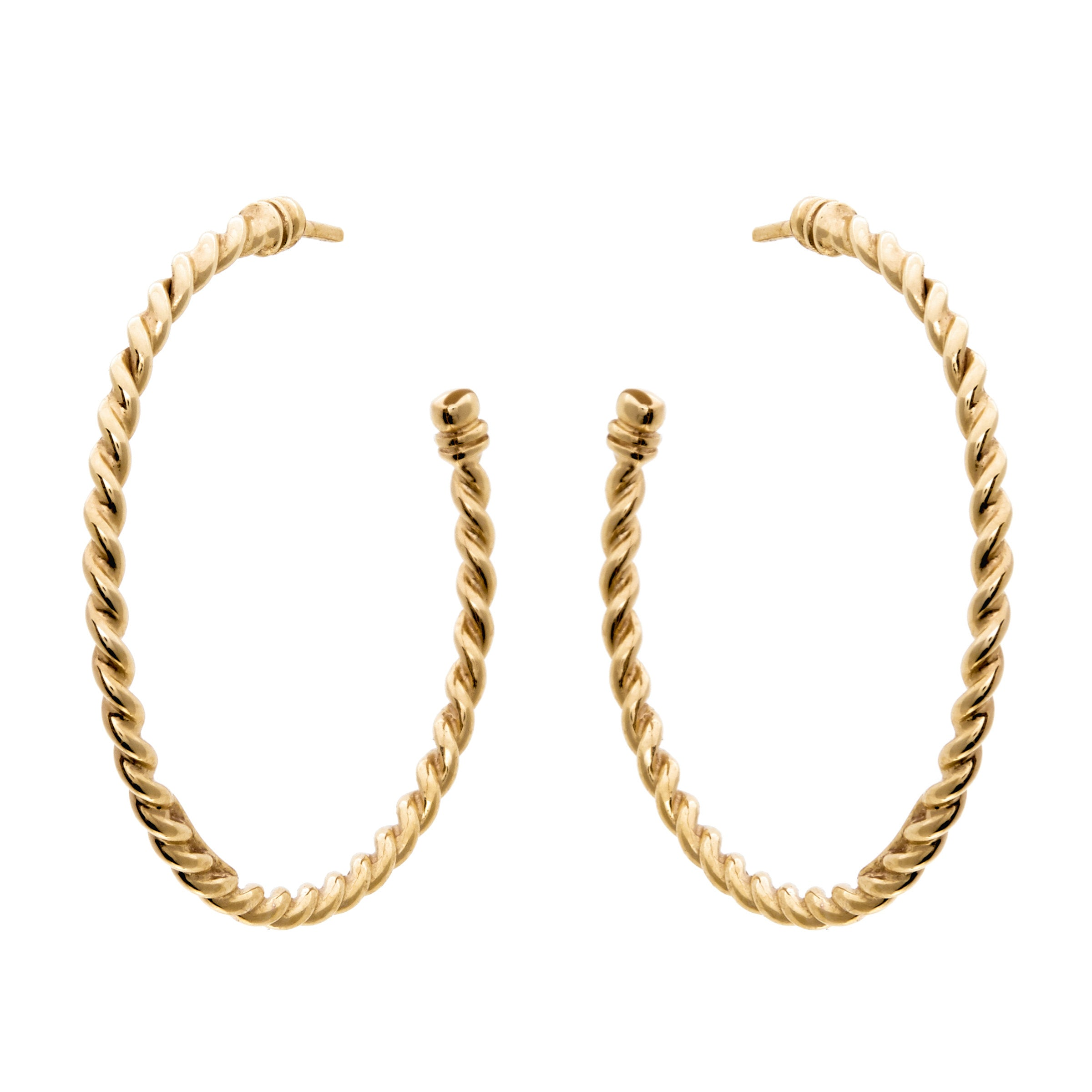 Plait Gold Hoops