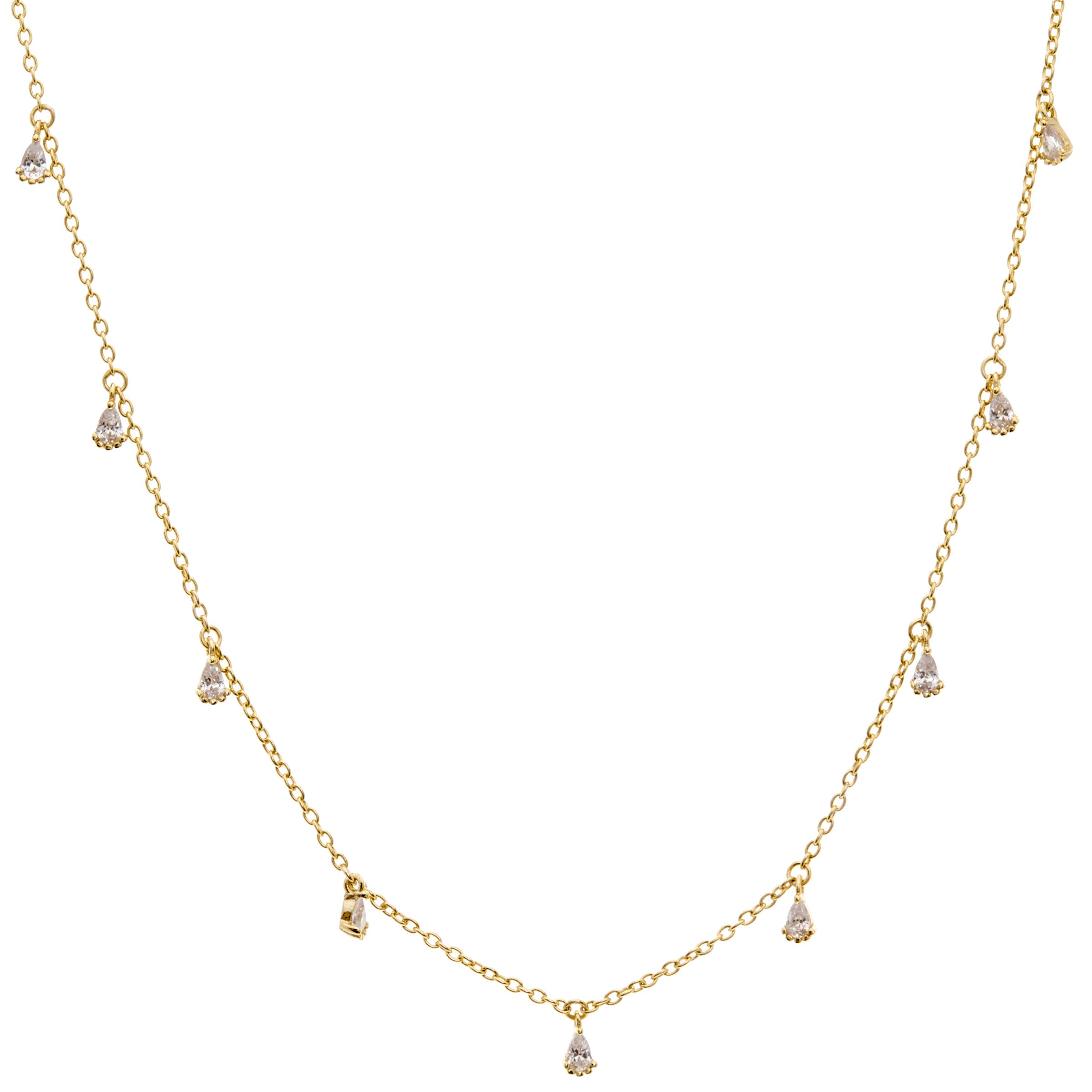 Claud Gold Teardrop Necklace