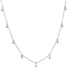 Claud Silver Teardrop Necklace