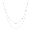Lacey Double Chain Silver Necklace