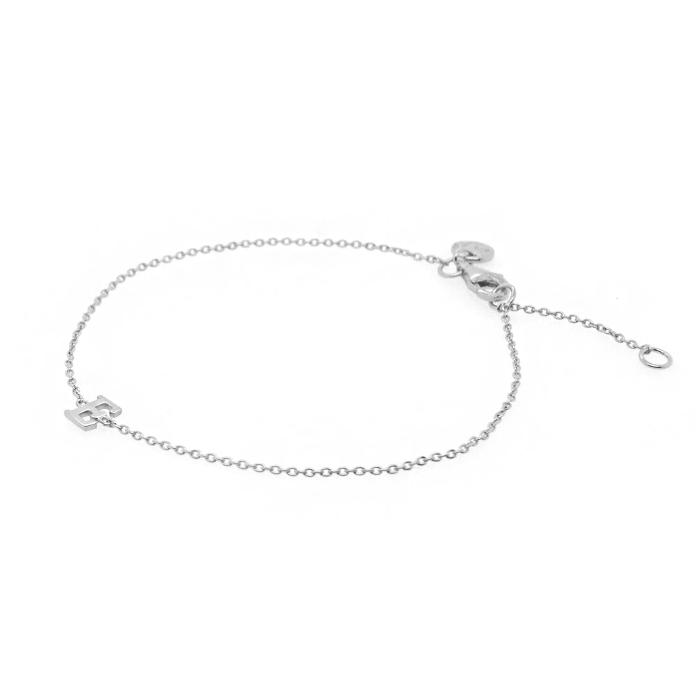 Baby Silver Initial Bracelet