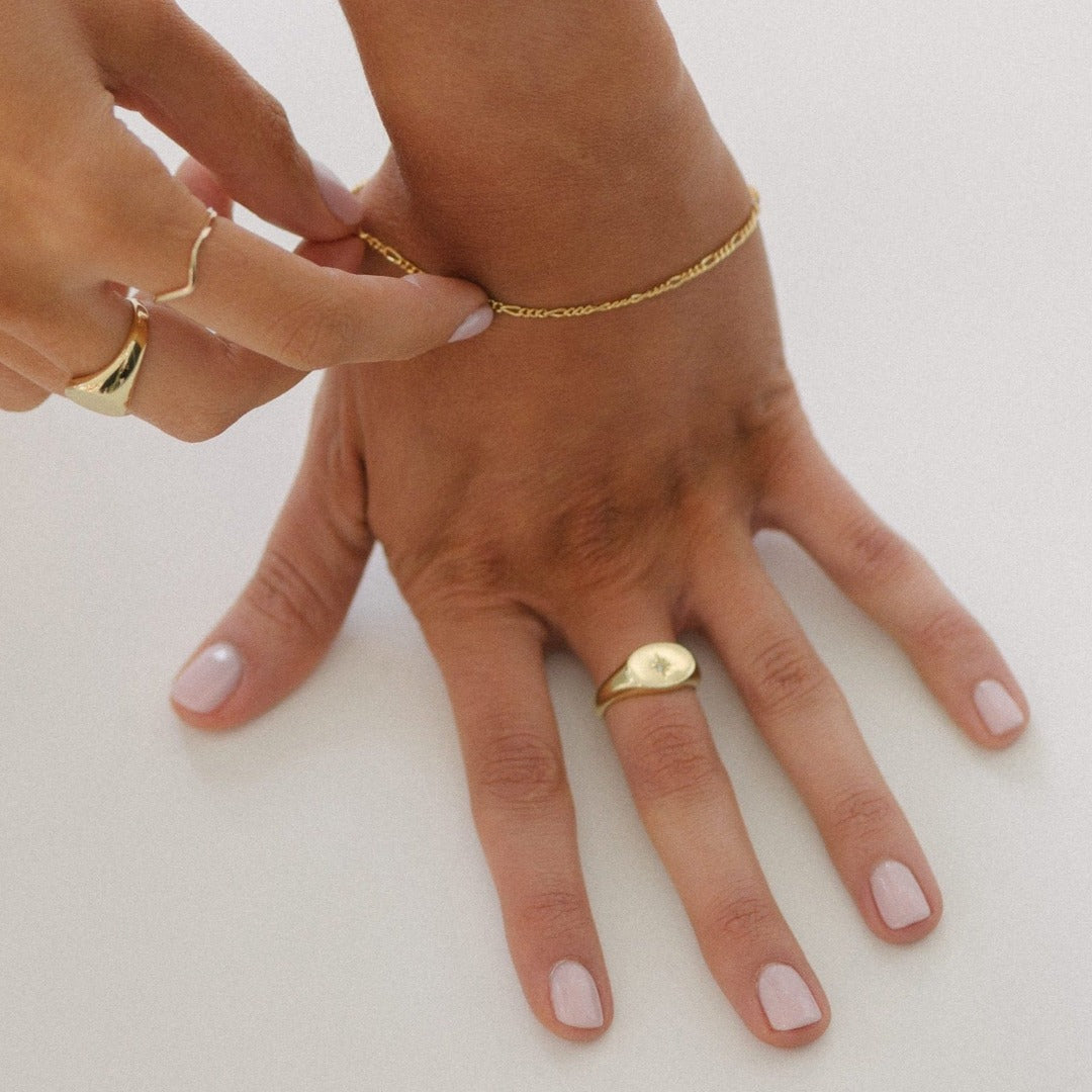 Baby North Star Gold Ring