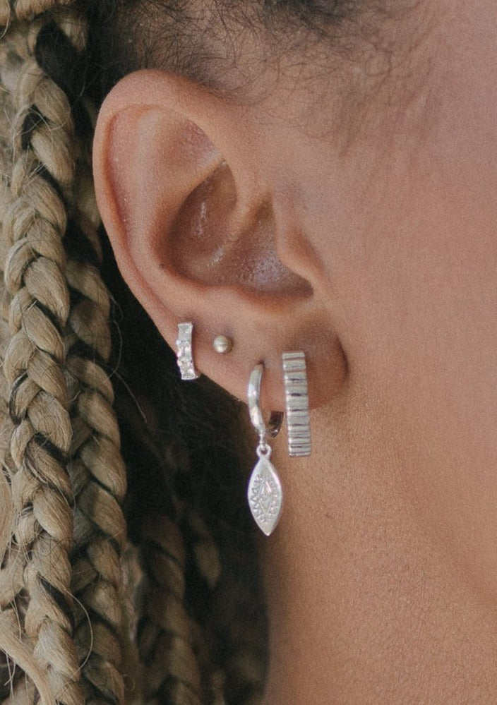 Isla Silver Hoop Earrings