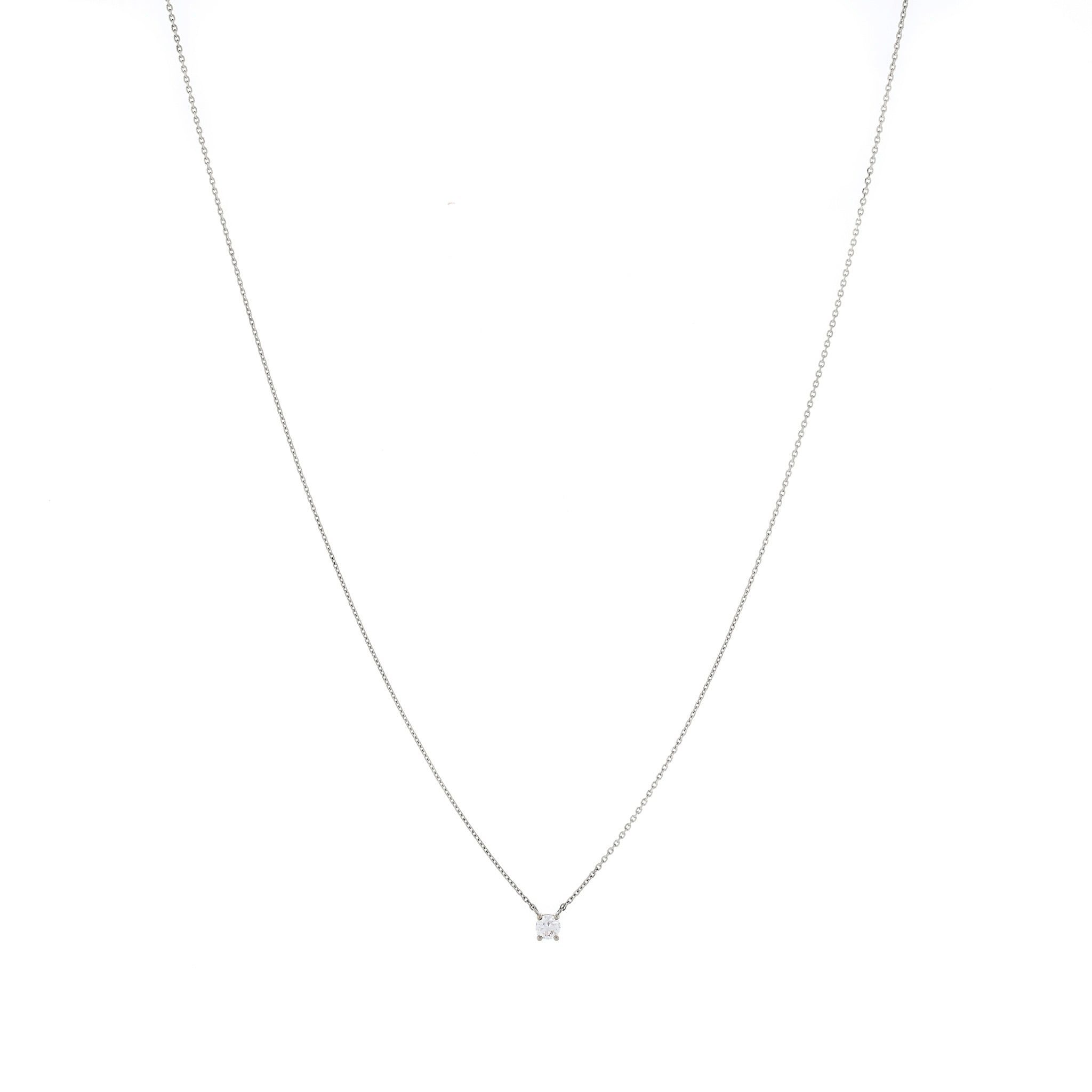 Claw-set Cubic Zirconia Silver Necklace