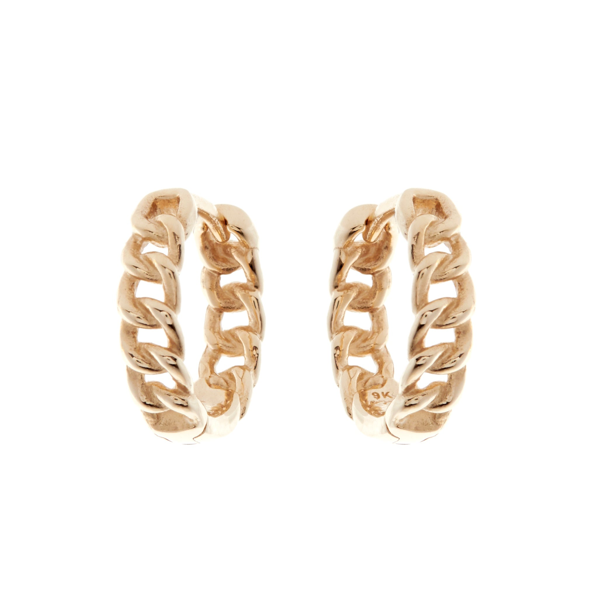 9K Gold Melrose Huggie Earrings