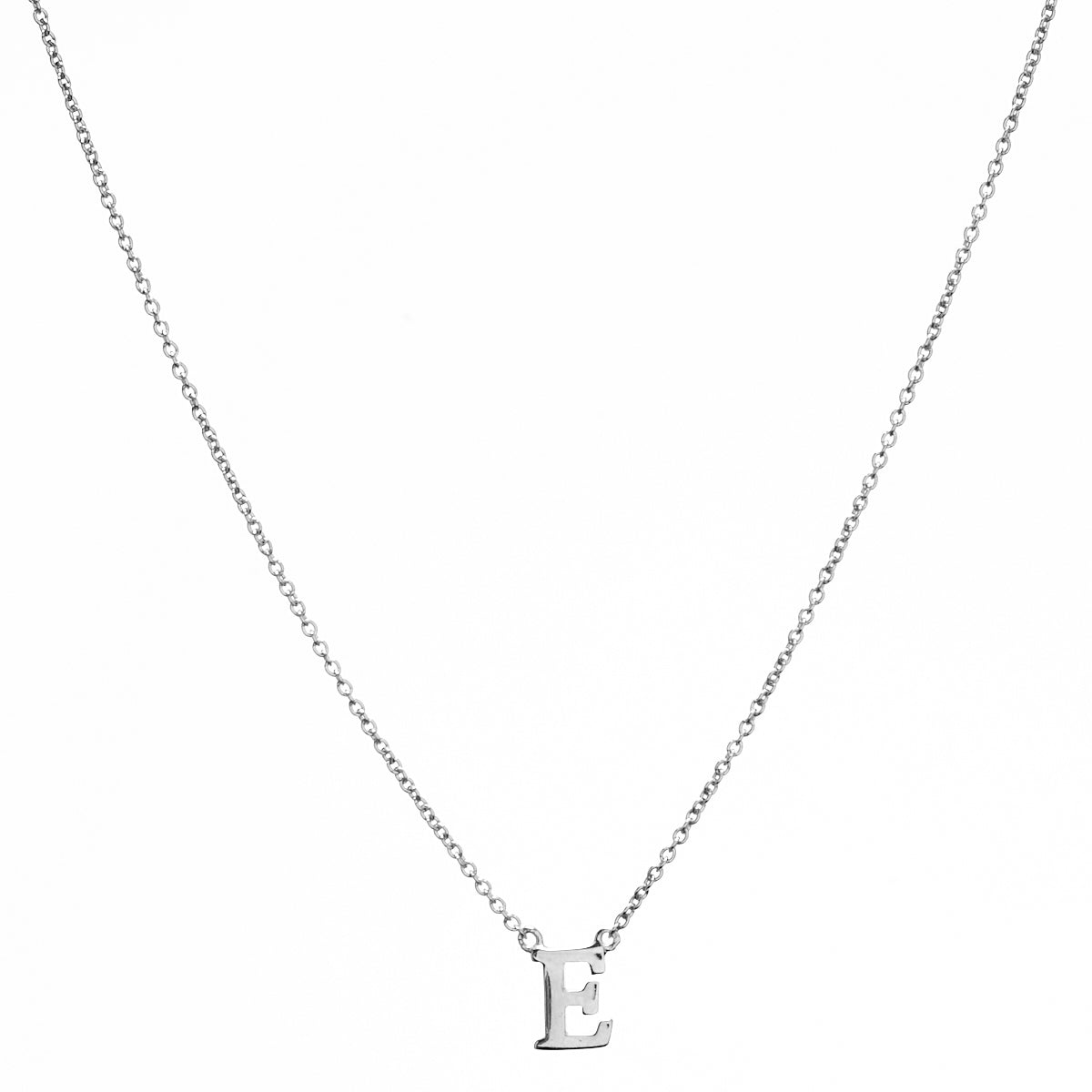 Baby Silver Initial Necklace