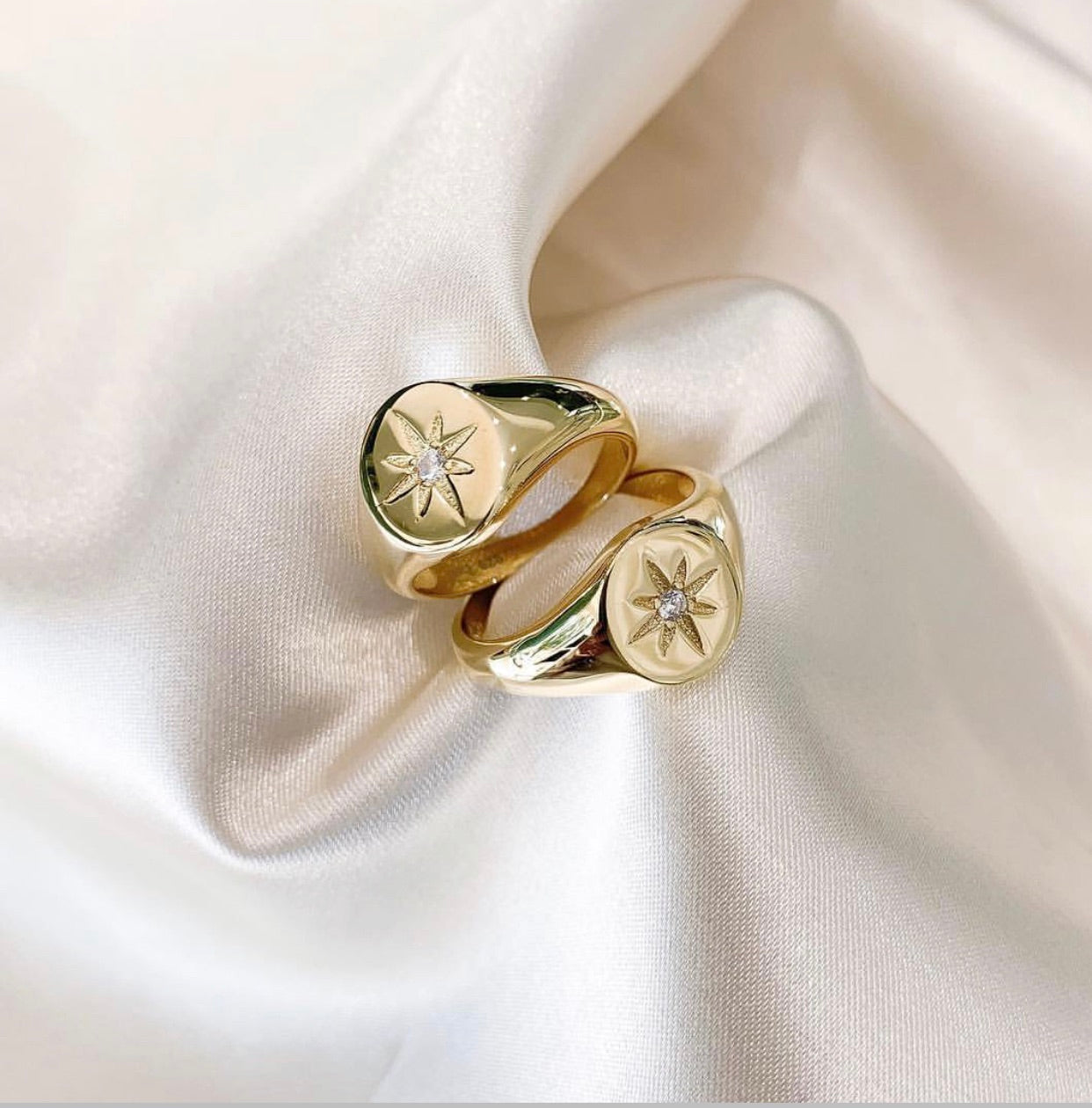 North Star Gold Signet Ring