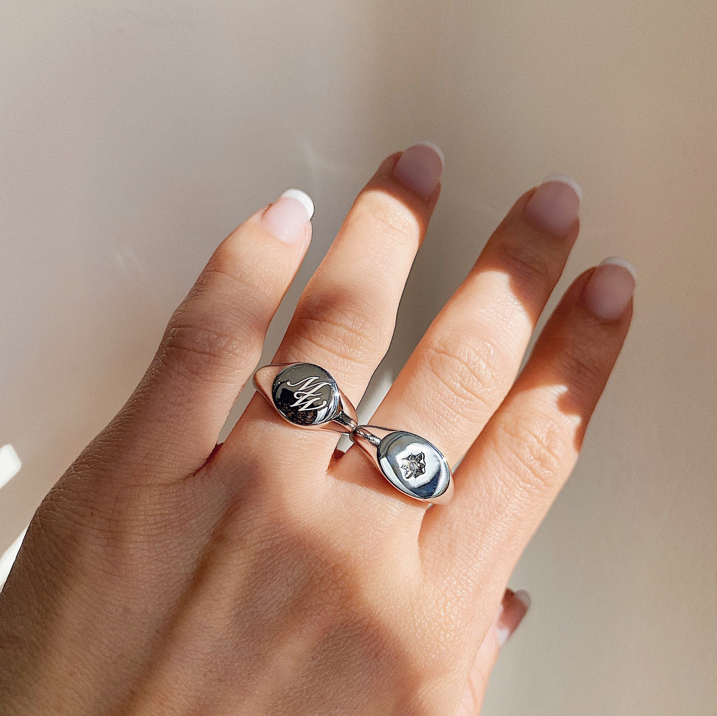 Baby North Star Silver Ring