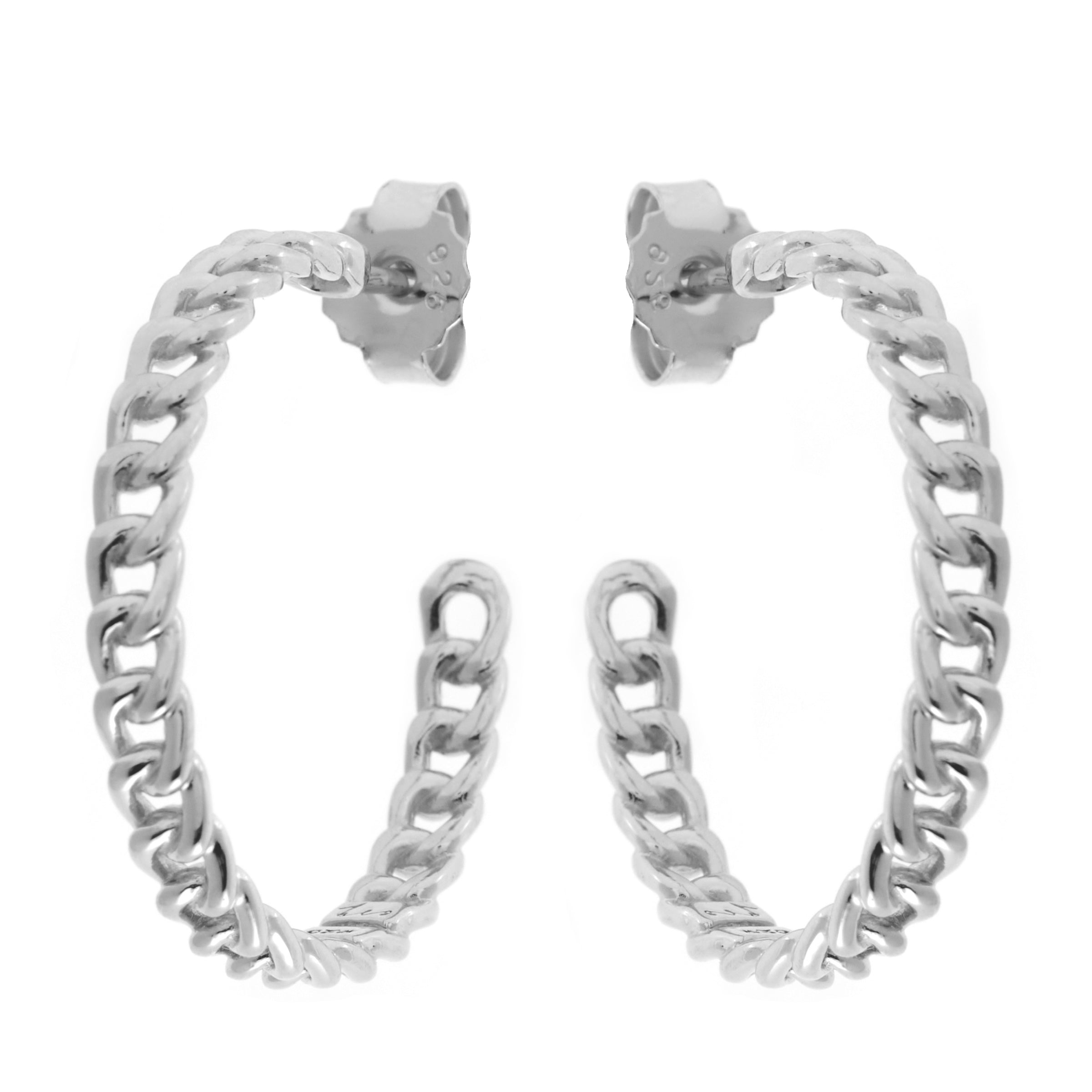 Melrose Silver Hoop Earrings