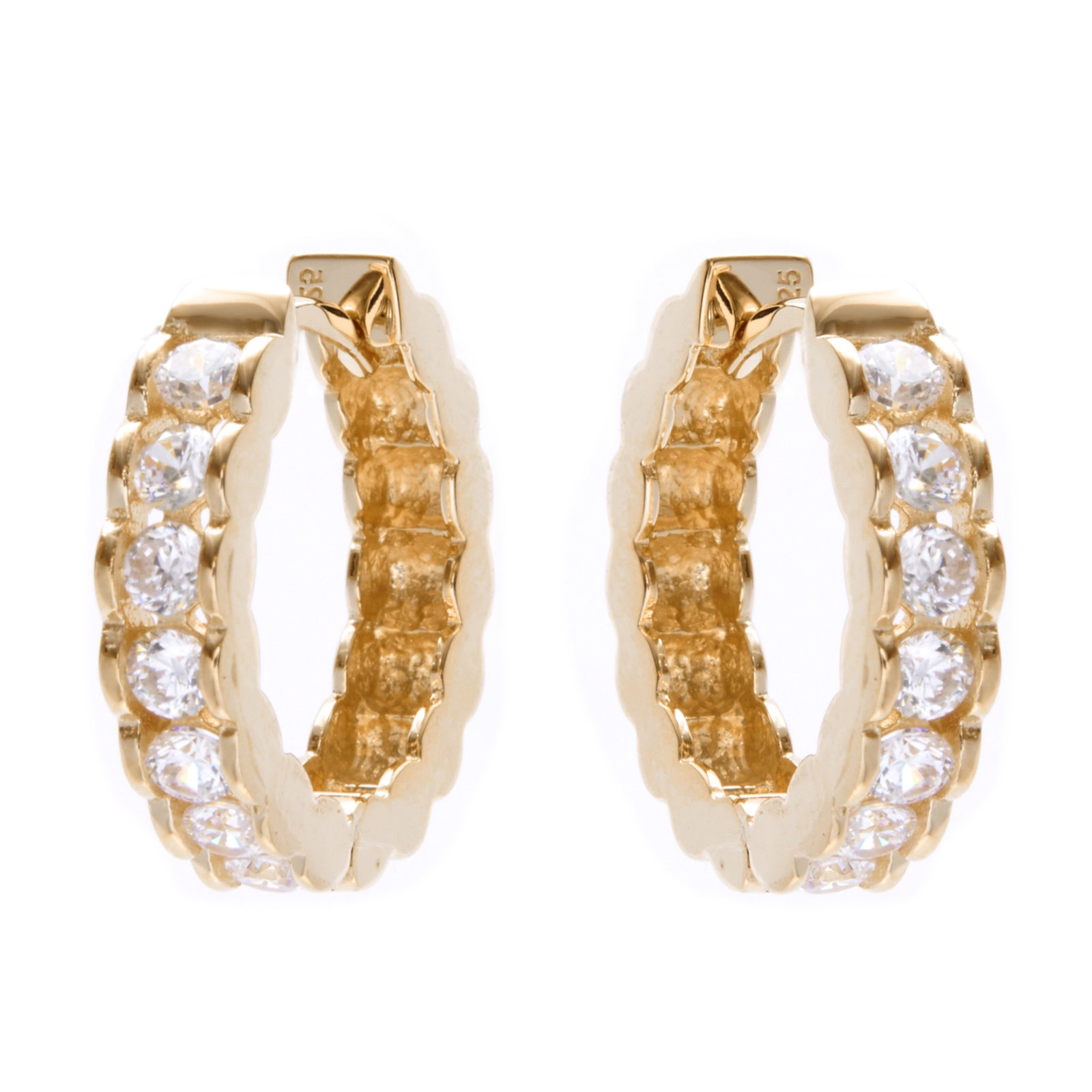Dolce Gold Huggie Earrings