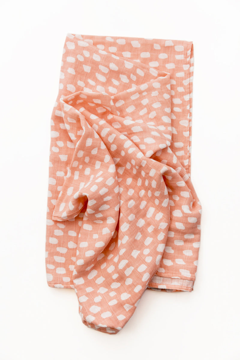 Spotted Blush Swaddle