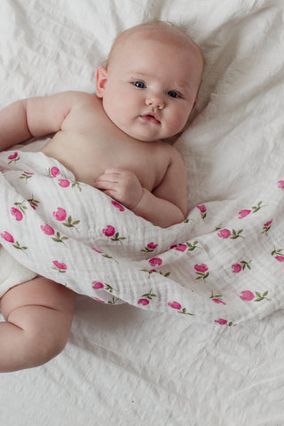 Heirloom Swaddle - Pink Grapefruit
