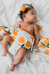 Mustard Herringbone Swaddle