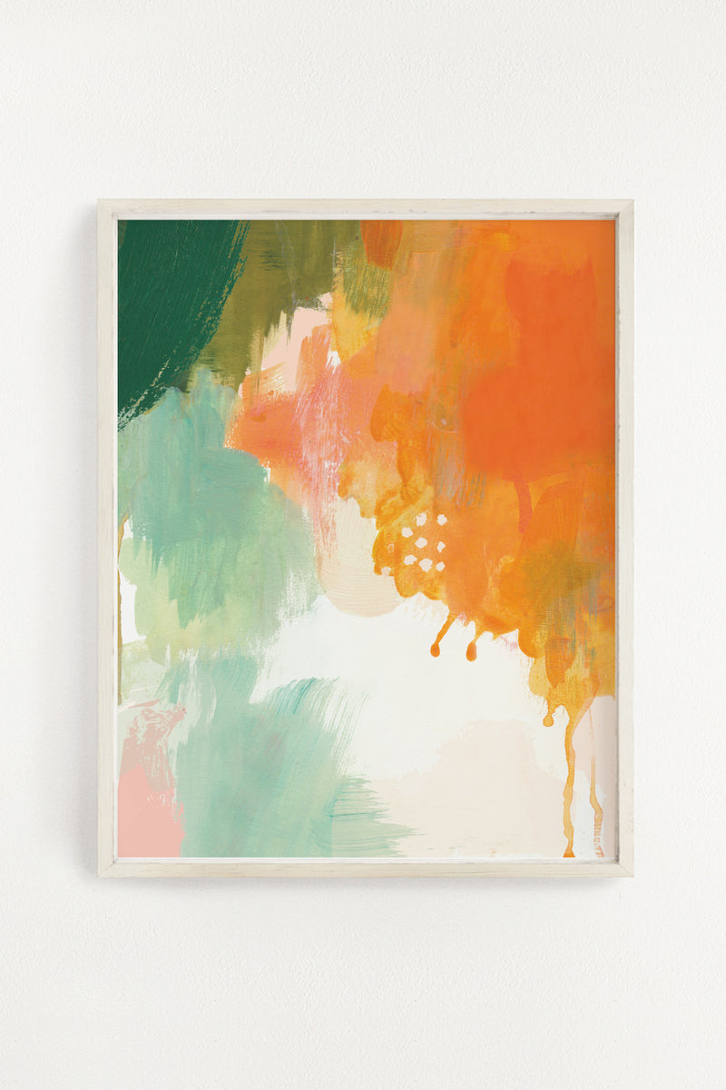 Abstract Sunset Art Print - 11x14