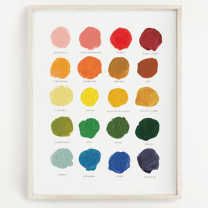 Color Mixing Art Print - 11x14