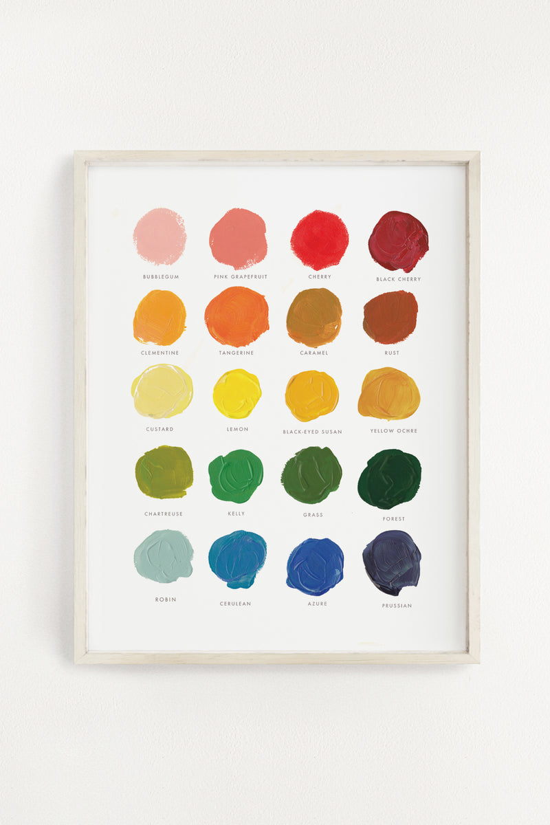 Color Mixing Art Print 11x14 Clementine Kids