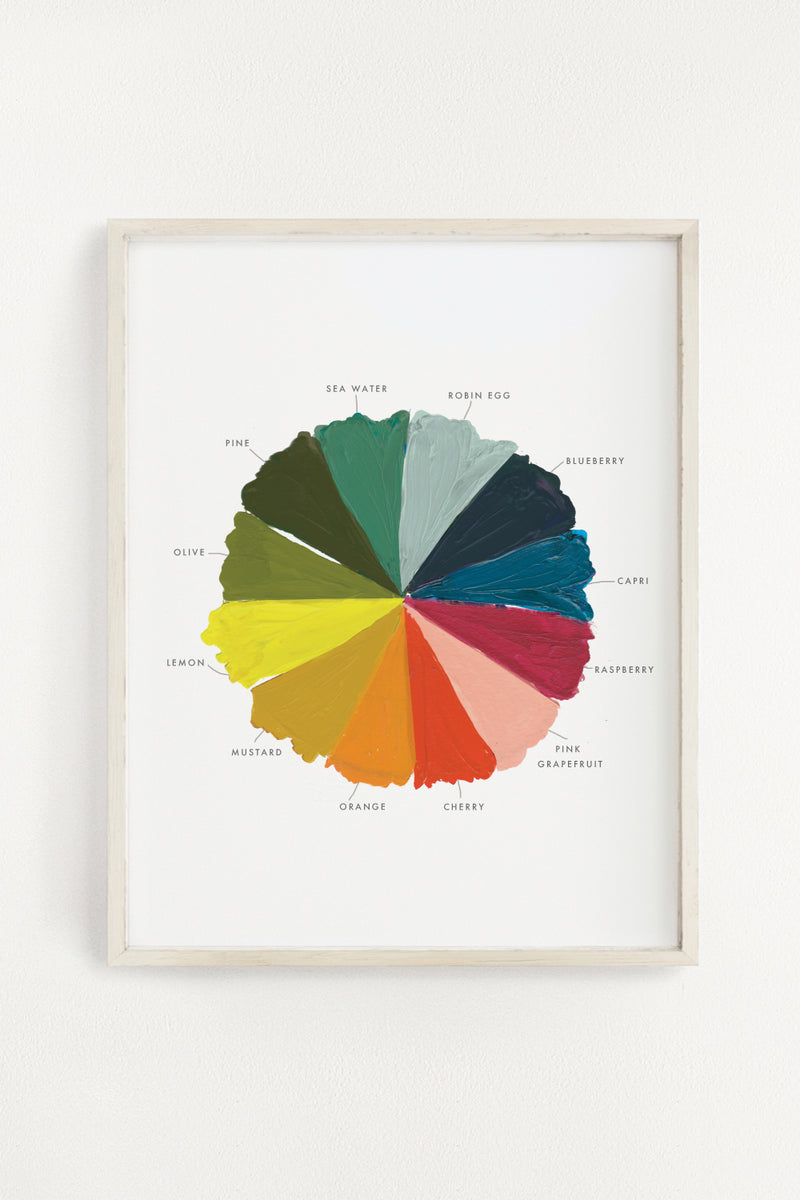Color Wheel Art Print - 11x14