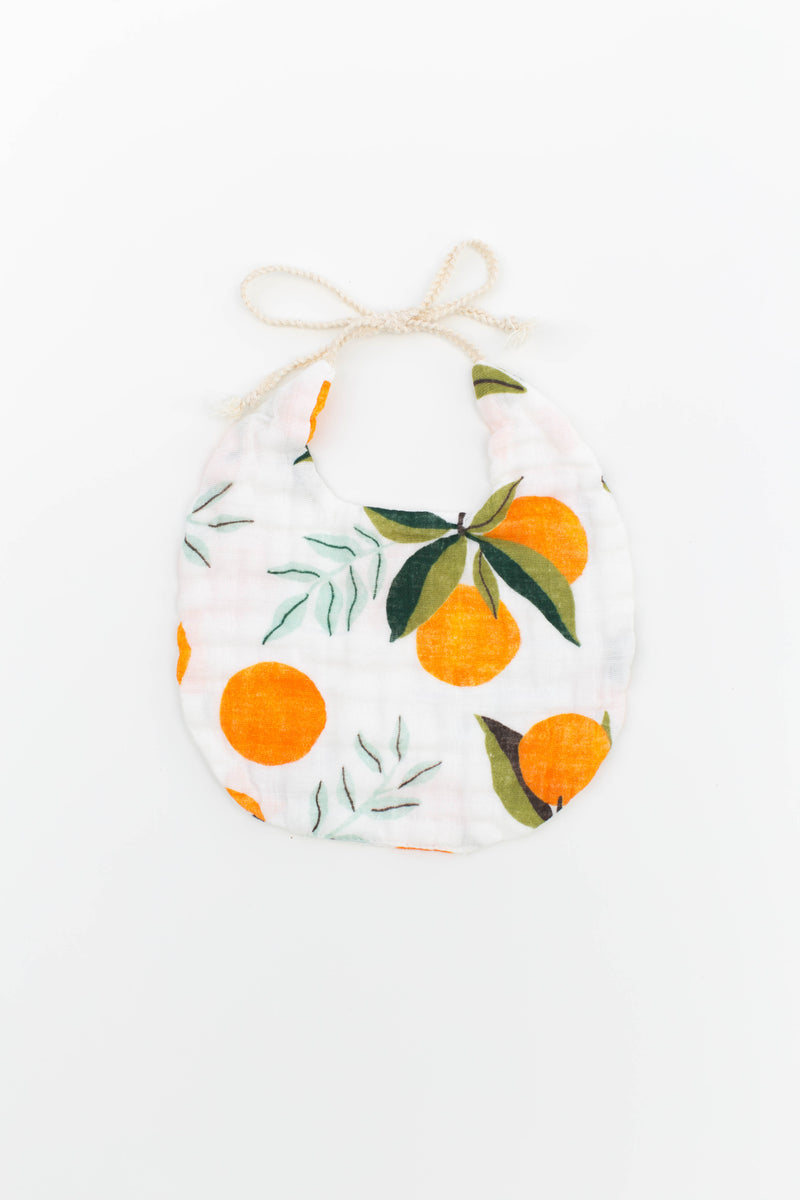 Clementine and Citrus Stripe Bib Pack