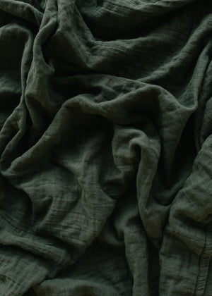 Heirloom Swaddle - Deep Olive