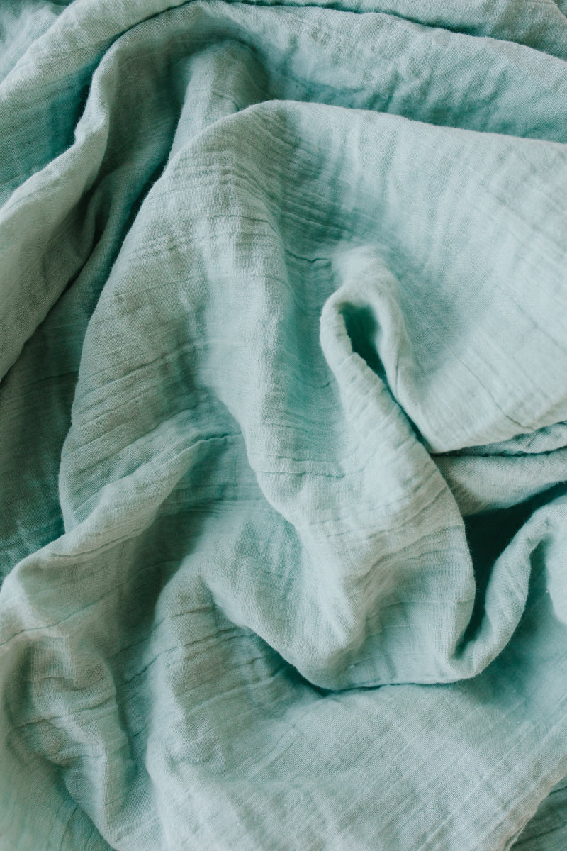 Heirloom Swaddle - Robin Egg
