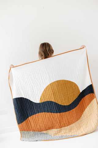 Large Clementine Throw Blanket