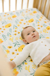 Buttercup Blossom Crib Sheet