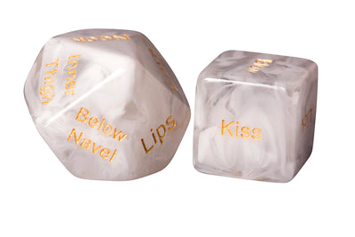 Classy Foreplay Dice (White Marble-Effect)