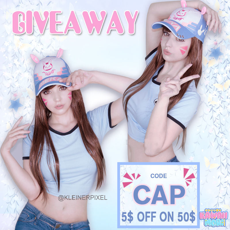 D.VA Cap Giveaway by @KawaiiMoriStore and @kleinerpixel