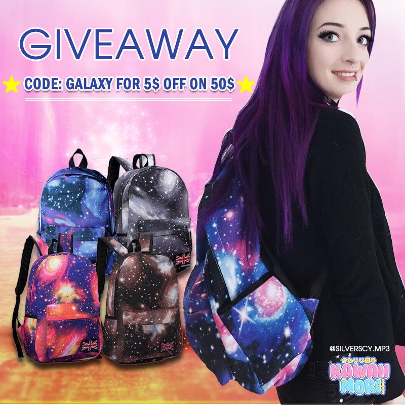 Galaxy Backpack Giveaway by @KawaiiMoriStore and @Silverscy.mp3