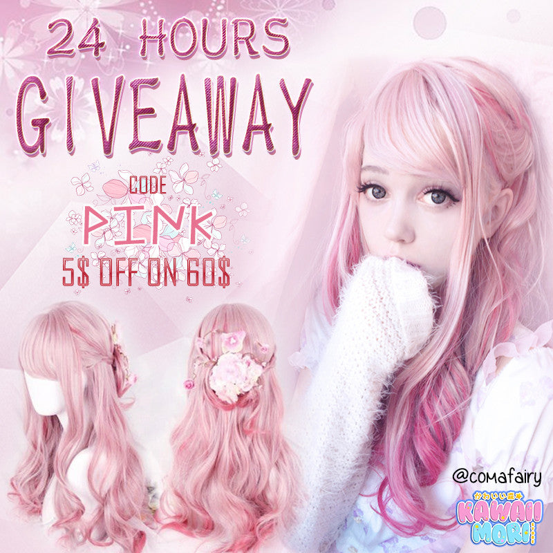 Sakura Wig 24 Hours Giveaway by @kawaiimoristore and @comafairy ♡