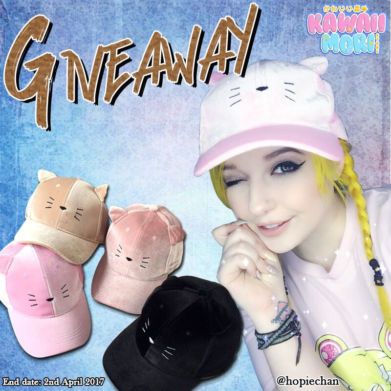Kitty Cap Co-giveaway by @KawaiiMoriStore and @Hopiechan