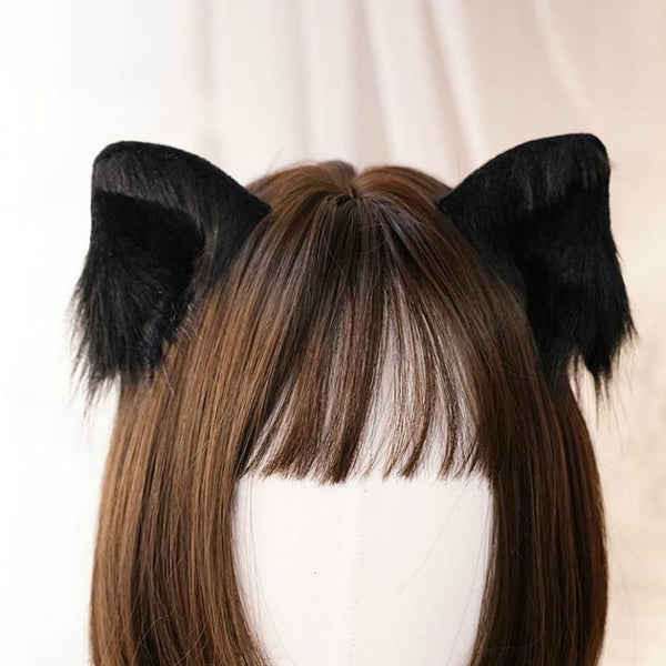 5 Colors Kawaii Plush Cat Ears Hair Clip K14572