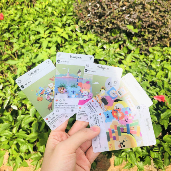 BT21 Instagram Transparent Photo Cards